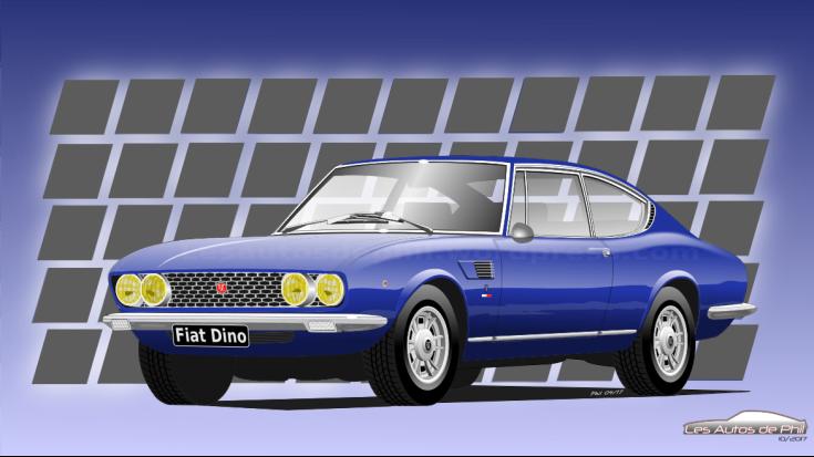 Fiat Dino Bleue blog