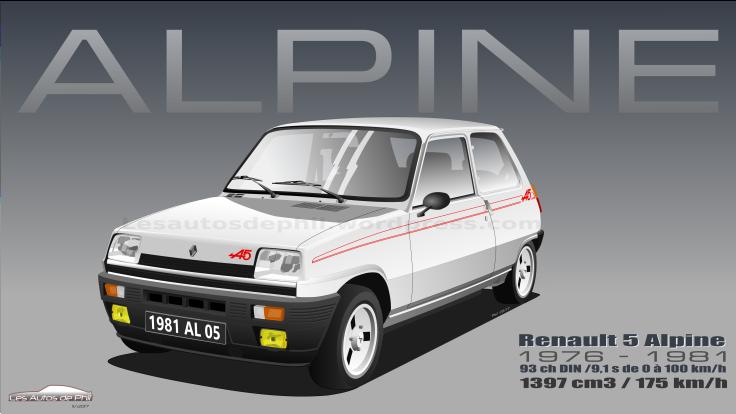 Renault 5 Alpine blanche blog