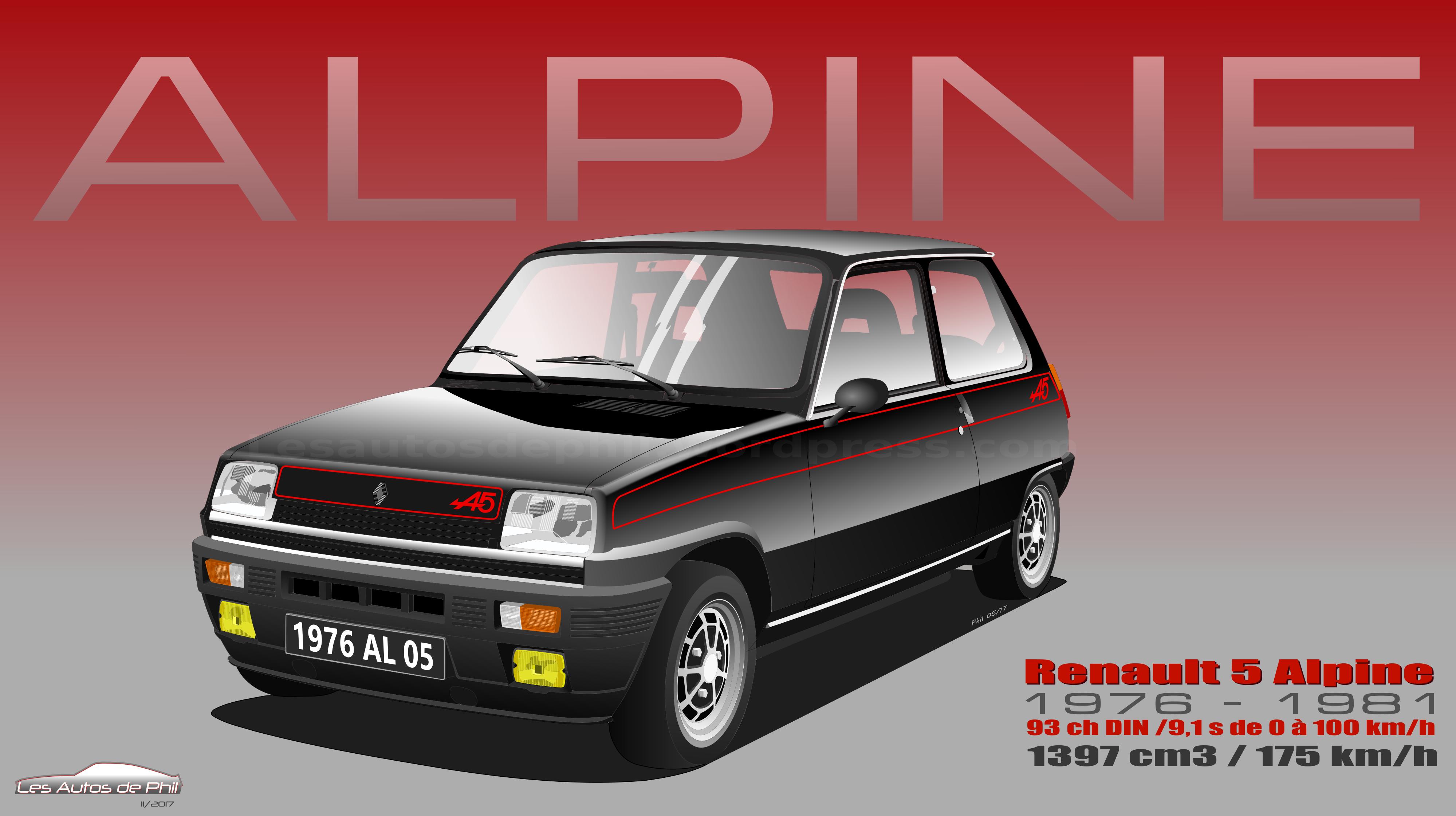 Renault 5 Alpine noire blog
