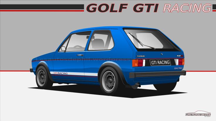 Golf GTI 1 AR racing bleue blog