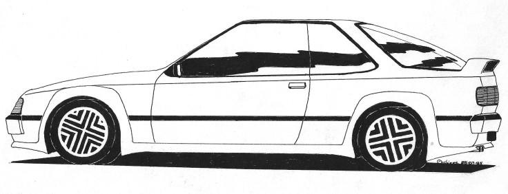 Coupé GT dessin