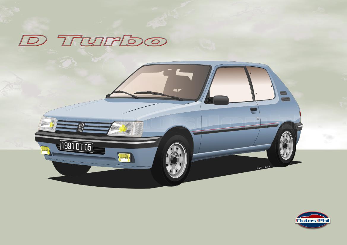 205 3 D Turbo bleu topaze w