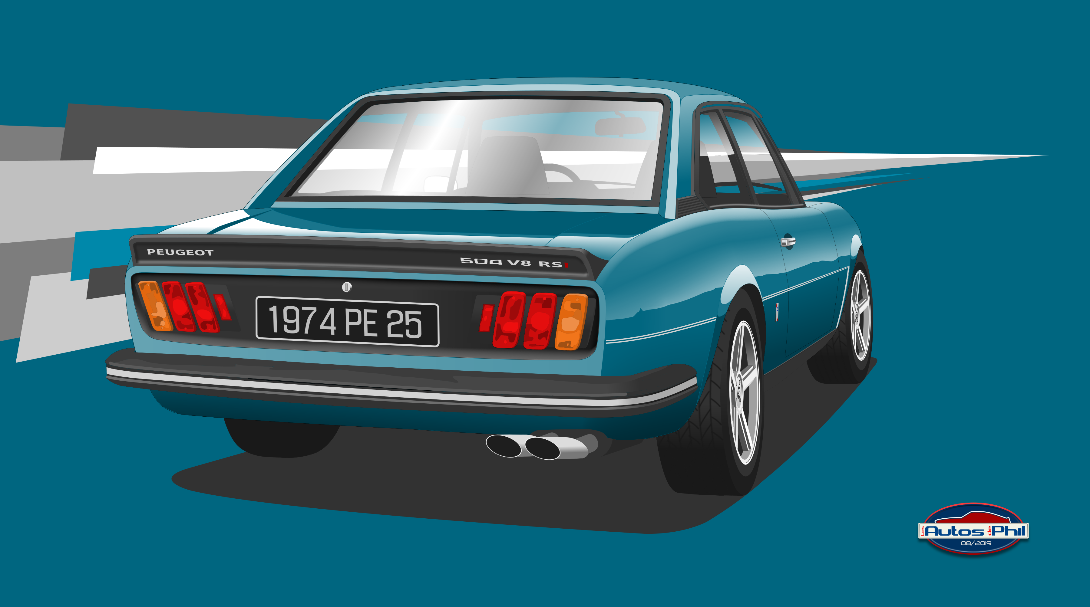 504 coupé AR sport bleue