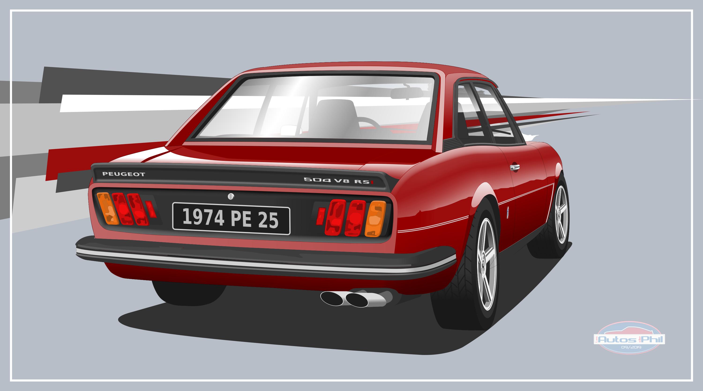504 coupé AR sport rouge