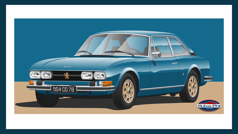 504 coupé ph 1 bleue