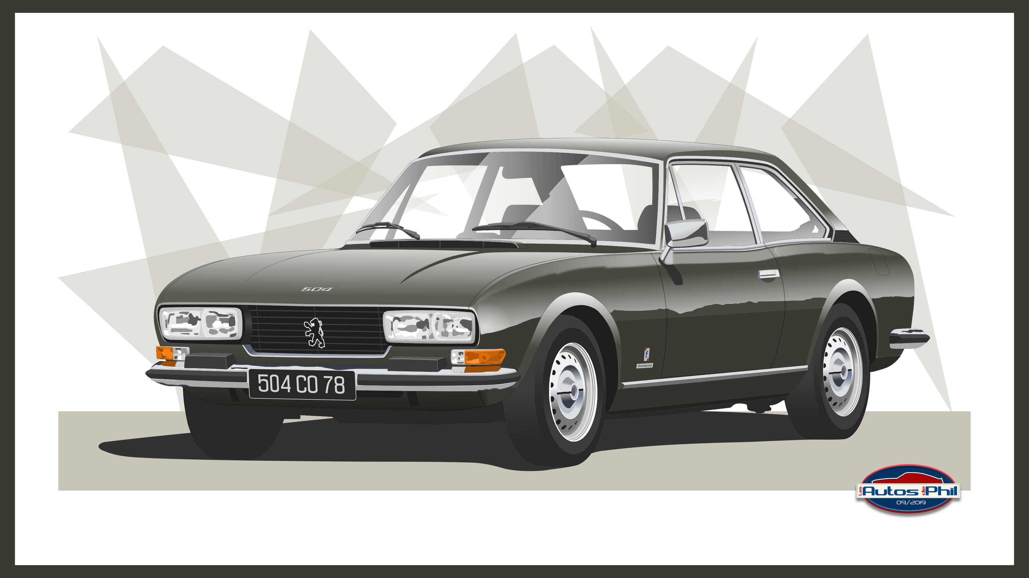 504 coupé ph 2 gris fumé