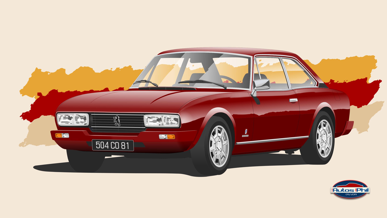 504 coupé ph 3 rouge métal